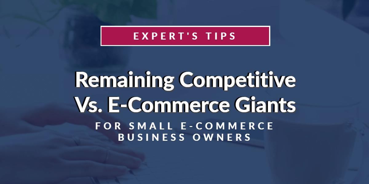 Expert's Tips on Remaining Competitive Vs. E-Commerce Giants